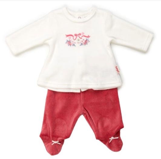 Babybol 2pce girls velour trouser set