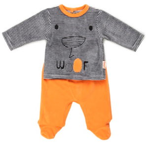Babybol 2pce trouser set with long sleeve stripy top
