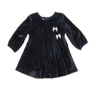 Babybol Navy dress with silver threading