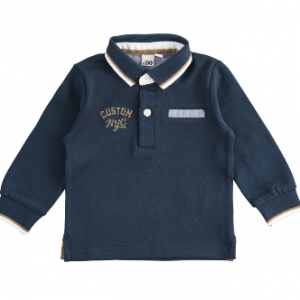 I Do Cotton Embroidered polo shirt