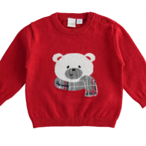 I Do crew neck sweater with teddy bear