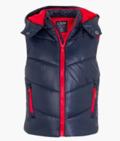 Losan quilted body warmer with zip pockets