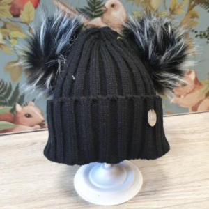 MSC double pom hat black