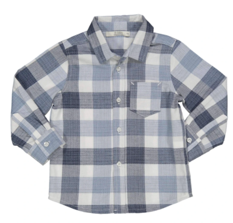 Birba check shirt blue