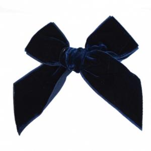 Condor velvet bow navy