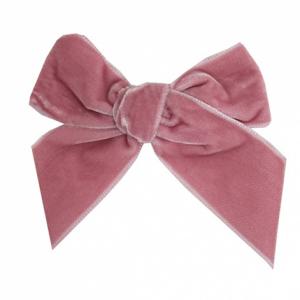Condor velvet bow pale pink