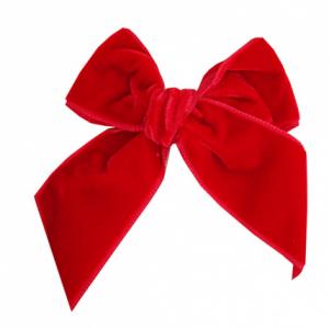 Condor velvet bow red