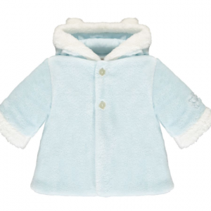 Emile et rose Gerry deep pile fleece jacket with white trim, hood and ears