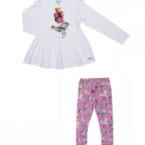 Happy calegi purple horse tunic and legging set