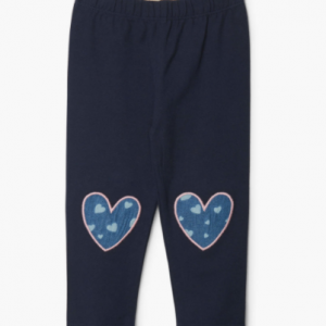 Hatley navy heart baby leggings