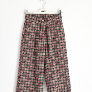 I Do cropped tweed cheked pattern trousers