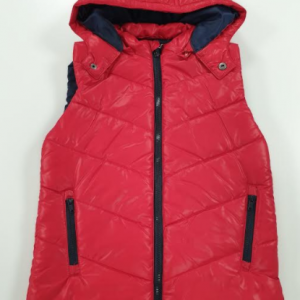 Losan body vest with detachable hood red