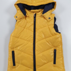 Losan body vest with detachable hood yellow