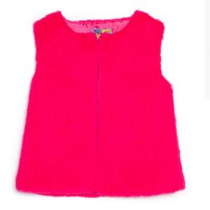 Rosalita Girls faux fur gitet pink