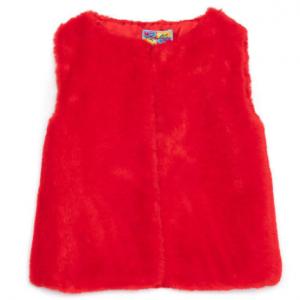 Rosalita red faux fur gilet