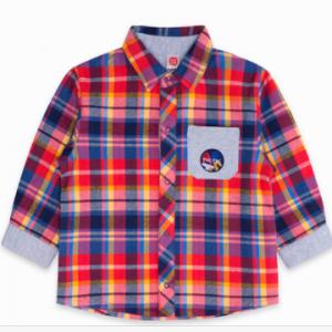 Tuc Tuc cloth fabric check shirt
