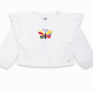 Tuc tuc Sweatshirt with embroidered butterfly