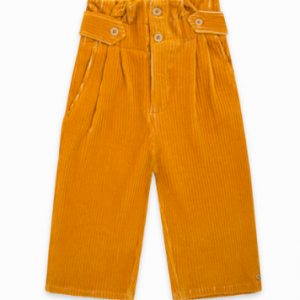 Tuc tuc corduroy trousers bell for girls yellow patch