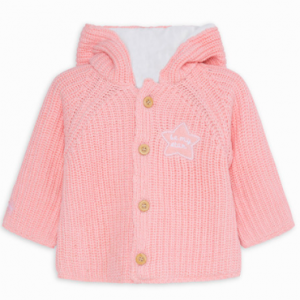 Tuc tuc knitted jacket with buttons and hood for girls pink cozy friends