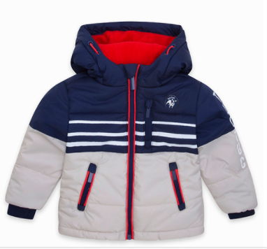 Tuc tuc padded jacket with zipper and hood