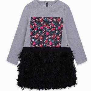 Tuc tuc plush and soft pile dress