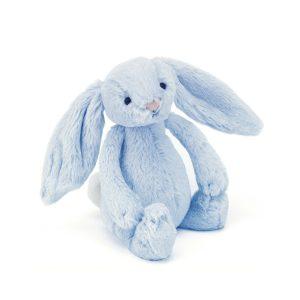 Jellycat bashful blue bunny rattle