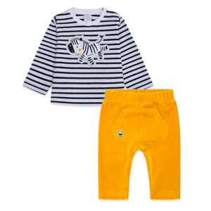Tuc Tuc jersey-t-shirt-and-trousers-for-boys-yellow-stripes-and-dots