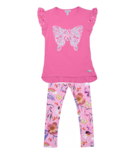 Happy calegi Maya tunic and legging set rose bloom
