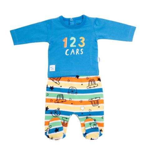 Babybol baby boy blue cars 2pce trouser set