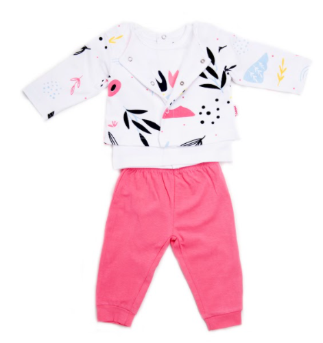 Babybol baby girl pastel print 3pce trouser set