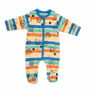 Babybol blue car romper for baby boy