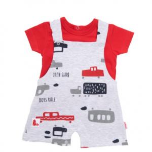 Babybol boys dungaree and t-shirt set