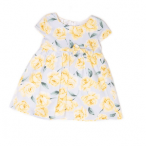 Babybol baby girl yellow floral dress