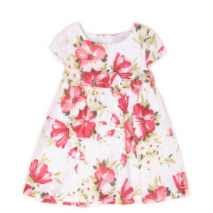 Babybol red floral cotton dress