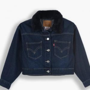 Levi's girls denim jacket with collar