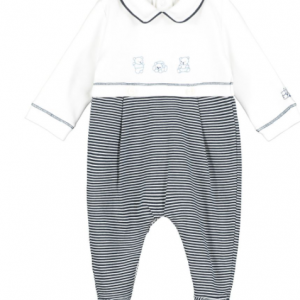 Emile et rose torin striped babygrow