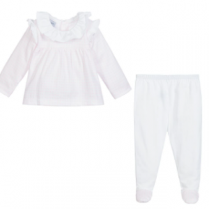 Babidu pink and white 2pce set
