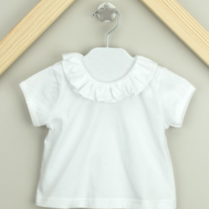 Babidu ruffled collar t-shirt