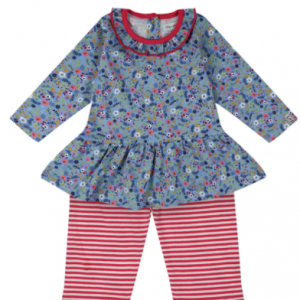 Lilly & Sid ditsy printed dress and legging set