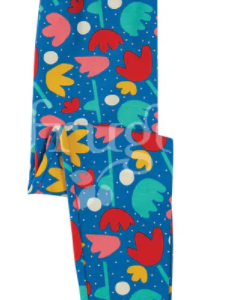 Frugi libby printed leggings, lotus bloom