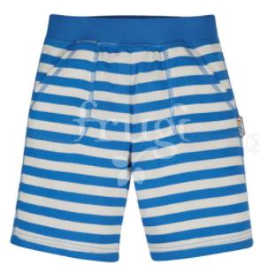 Frugi GOTS organic cotton favourite shorts, colbalt blue stripe