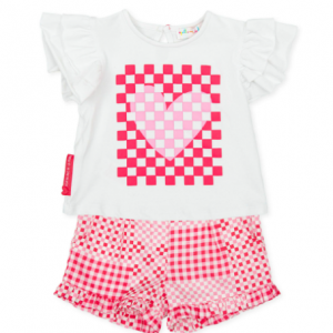 Agatha ruiz de le prada coral t-shirt and short set