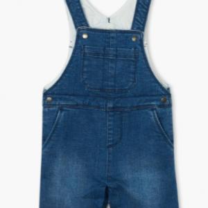Hatley denim baby short overalls