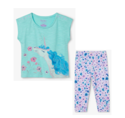 Hatley dreamy unicorn legging set