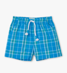 Hatley summer plaid baby woven shorts