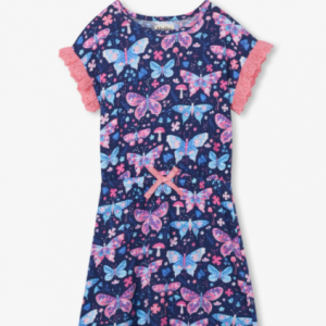 Hatley botanical butterfly cinched waist dress