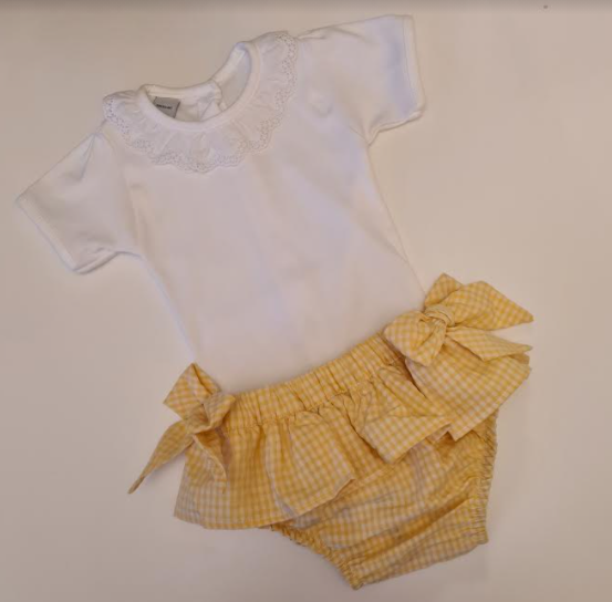 Cocote Yellow bloomers with bows