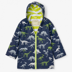 Hatley dino fossils colour changing splash jacket 1