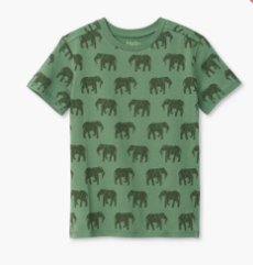 Hatley elephant herd graphic t-shirt