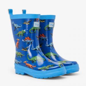 Hatley friendly dinos shiny rain boots